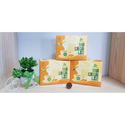 Trà Cà Gai Leo Thái Hưng (trà thảo mộc túi lọc - 100% tự nhiên - không chất bảo quản, dạng hộp cao cấp)