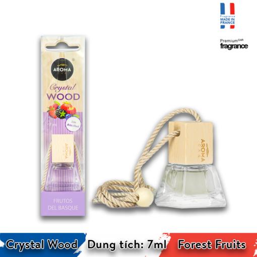 Tinh dầu treo Aroma Car Crystal Wood